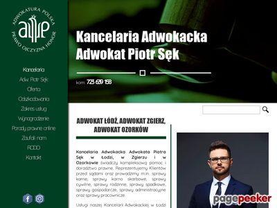 Adwokat w Zgierzu - Adw. Piotr Sęk