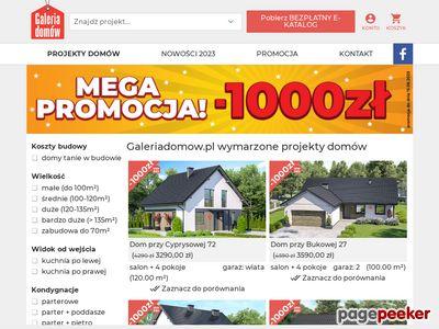 GALERIA Domów - projekty domów jednorodzinnych