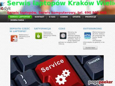 Serwis laptopów komputerów Kraków PC Medyk