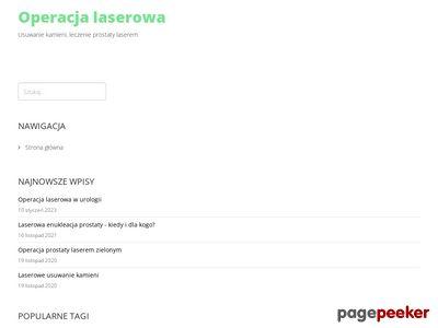 Operacja prostaty laserem zielonym